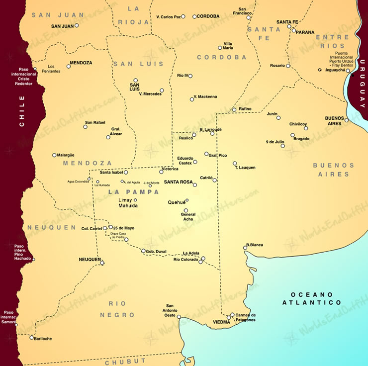 Iberhunts ARGENTINA SMALL GAME HUNTING NEAR BUENOS AIRES - Argentina map small